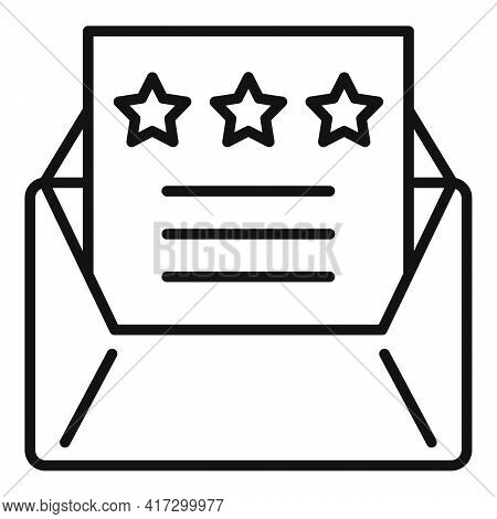 Attestation Mail Icon. Outline Attestation Mail Vector Icon For Web Design Isolated On White Backgro