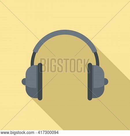 Music Headphones Icon. Flat Illustration Of Music Headphones Vector Icon For Web Design