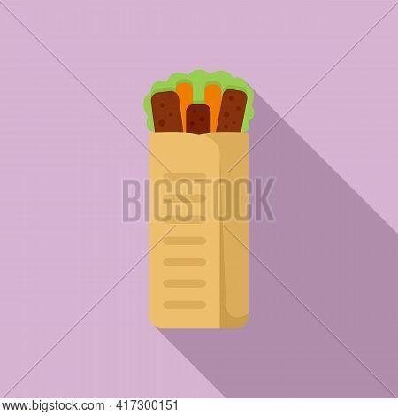 Fresh Kebab Icon. Flat Illustration Of Fresh Kebab Vector Icon For Web Design
