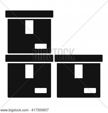 Boxes Space Organization Icon. Simple Illustration Of Boxes Space Organization Vector Icon For Web D