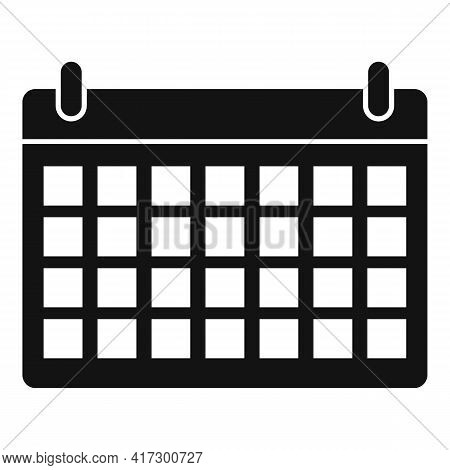 Space Organization Calendar Icon. Simple Illustration Of Space Organization Calendar Vector Icon For
