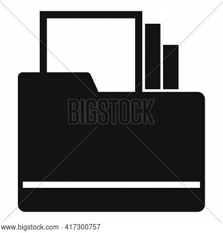 Space Organization Folder Icon. Simple Illustration Of Space Organization Folder Vector Icon For Web