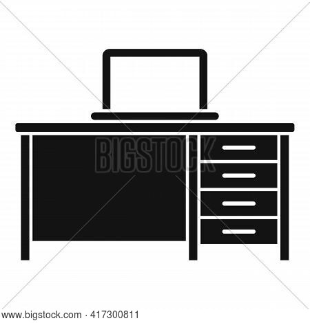 Laptop Desktop Icon. Simple Illustration Of Laptop Desktop Vector Icon For Web Design Isolated On Wh