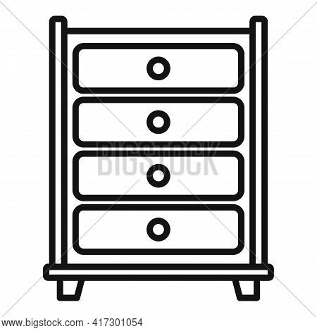 Drawer Space Organization Icon. Outline Drawer Space Organization Vector Icon For Web Design Isolate