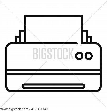 Space Organization Printer Icon. Outline Space Organization Printer Vector Icon For Web Design Isola