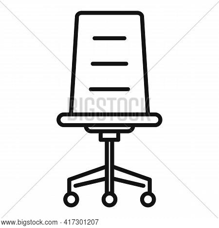 Office Armchair Icon. Outline Office Armchair Vector Icon For Web Design Isolated On White Backgroun