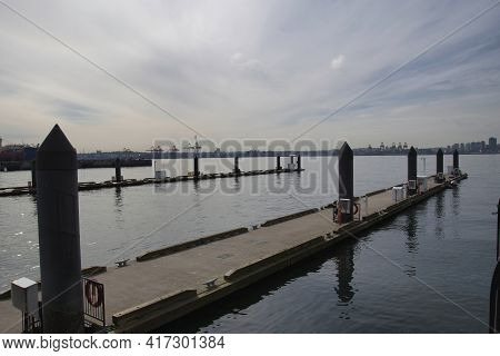 A Boat Pier At The Harbour.   North Vancouver Bc Canada
