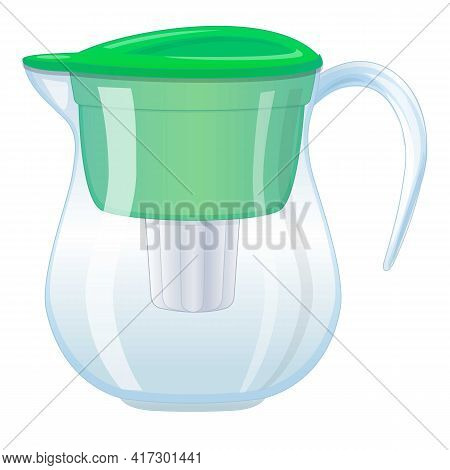 Filter Pitcher Icon. Cartoon Of Filter Pitcher Vector Icon For Web Design Isolated On White Backgrou