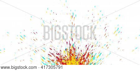 Grunge Colorful Background Design Isolated On White Background. Concept Paint Splash,watercolor Spla