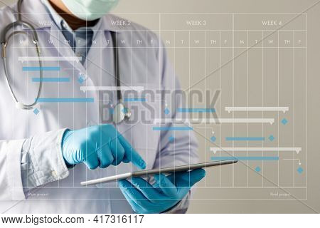 Doctor Appointment To Service In The Hospital Doctor And Patient Influenza Vaccine