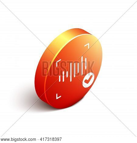 Isometric Voice Recognition Icon Isolated On White Background. Voice Biometric Access Authentication