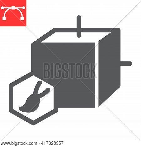 Art To Nft Glyph Icon, Unique Token And Nft Blockchain, Non Fungible Token Vector Icon, Vector Graph