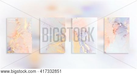 Abstract Blurred Gradient Mesh Background In Bright Rainbow Colors. Colorful Smooth Banner Template.