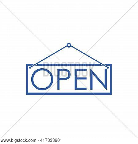 Illustration Vector Design Graphic Of Open Text