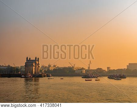 The Gateway Of India Is An Arch-monument Built In The Early Twentieth Century In The City Of Mumbai,