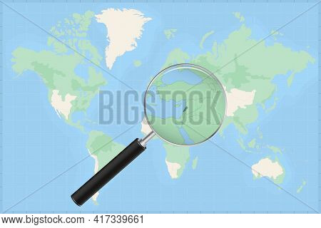 Map Of The World With A Magnifying Glass On A Map Of Lebanon Detailed Map Of Lebanon And Neighboring
