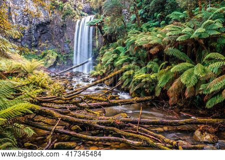 Amazing Hopetoun Falls In The Great Otway National Park, Victoria, Australia