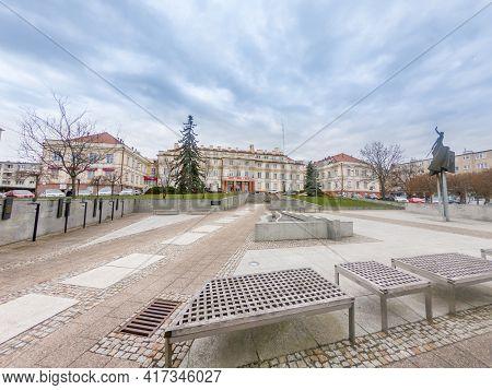 Pruszcz Gdanski, Poland - April 16, 2021: View Of The Starosty Building.