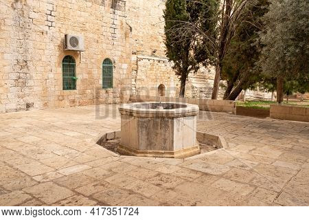 The Inactive Fountain In The South Part The Temple Mount In The Old Town Of Jerusalem In Israel