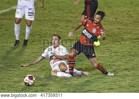 Rio, Brazil - April 17, 2021: Michael Player In Match Between Portuguesa V Flamengo By Carioca Champ