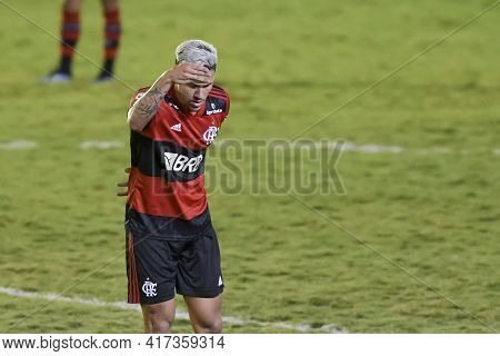 Rio, Brazil - April 17, 2021: Pedro Player In Match Between Portuguesa V Flamengo By Carioca Champio