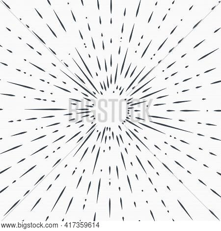 Star Burst Design Element On White Background