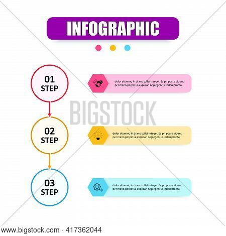 Vector Design Presentation Business Infographic Template With 3 Options. Concept Infographics Circle