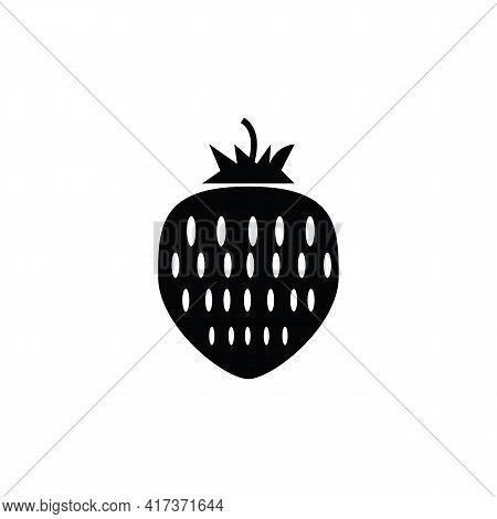 Strawberry Icon Isolated On White Background From Allergies Collection. Strawberry Icon Thin Line Ou