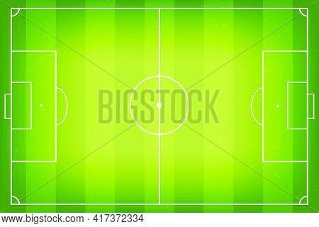Soccer Field, Football Pitch. Soccer Fields In Top View. Soccer Field Or Football Pitch With Marking