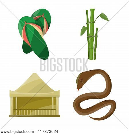 Isolated Object Of Vietnam And Traditional Sign. Collection Of Vietnam And Asia Vector Icon For Stoc