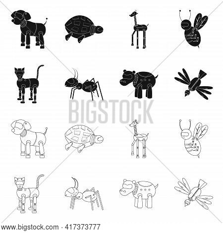 Vector Design Of Toy And Science Logo. Set Of Toy And Toy Vector Icon For Stock.