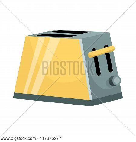 Isolated Object Of Toaster And Instrument Logo. Web Element Of Toaster And Electrical Vector Icon Fo