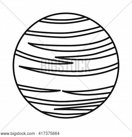 Isolated Object Of Surface And Star Symbol. Web Element Of Surface And Orbit Stock Symbol For Web.