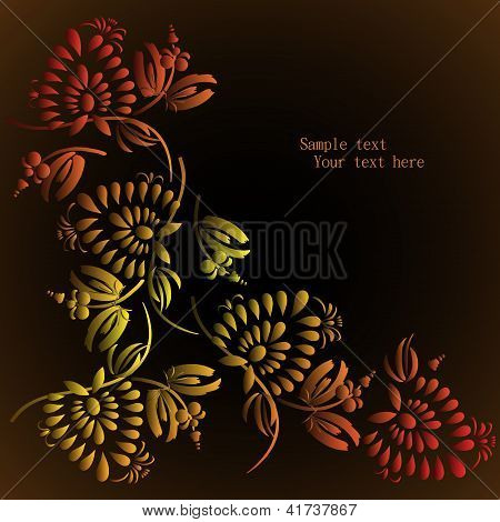 Floral Background, Spring Theme, Greeting Card.