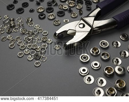 Pliers, Piercing And Riveting Tools. Drilling And Riveting Tools For The Processing Of Fasteners And