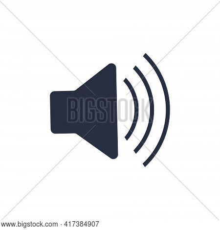 Volume Icon Black Vector Illustration. Sound Icon, Volume Symbol, Speaker Sign, Audio Control Icon S