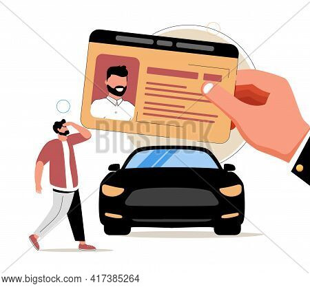 Driving School Abstract Concept Vector Illustration Set. Driving Lessons And Instruction, Driving Li