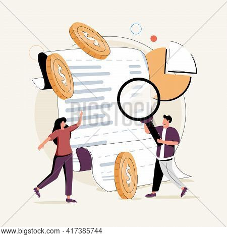 Balance Sheet Abstract Concept Vector Illustration Set. Income And Cash Flow Statement, Income Inequ