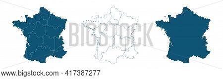 France Map Illustration Vector Detailed France Map