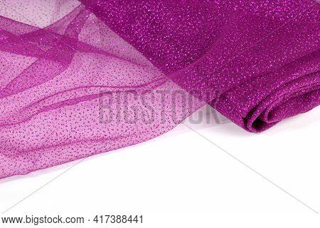 Crumpled Beautifully Draped Lace Festive Tulle Fabric