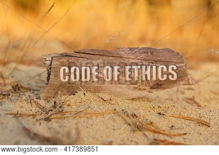 Concept, Business And Finance. In The Sand Against The Background Of Yellow Grass There Is A Sign Wi