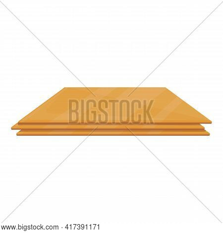 Plywood Manufacture Icon. Cartoon Of Plywood Manufacture Vector Icon For Web Design Isolated On Whit