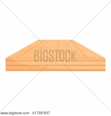 Room Wood Floor Icon. Cartoon Of Room Wood Floor Vector Icon For Web Design Isolated On White Backgr