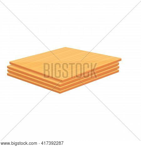 Plywood New Stack Icon. Cartoon Of Plywood New Stack Vector Icon For Web Design Isolated On White Ba