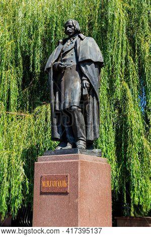 Monument To The Russian Writer Nikolai Gogol In Myrhorod, Ukraine