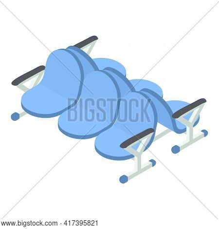 Railway Station Chairs Icon. Isometric Of Railway Station Chairs Vector Icon For Web Design Isolated