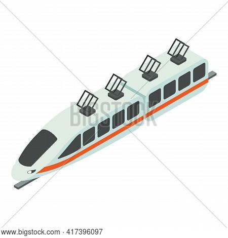 Speed Train Icon. Isometric Of Speed Train Vector Icon For Web Design Isolated On White Background