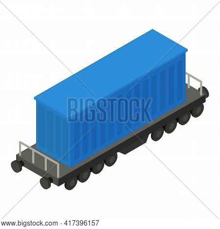 Transport Wagon Icon. Isometric Of Transport Wagon Vector Icon For Web Design Isolated On White Back