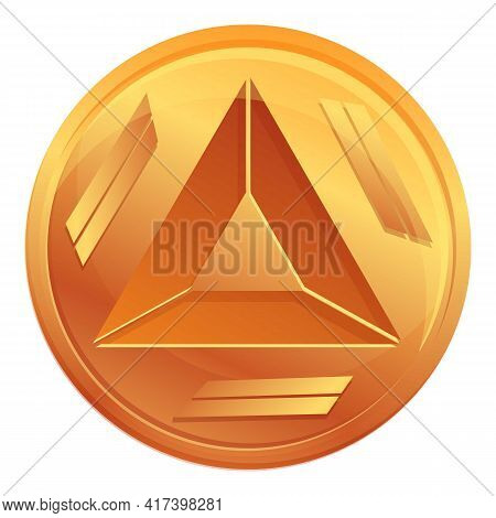 Basic Attention Token Cryptocurrency Icon. Cartoon Of Basic Attention Token Cryptocurrency Vector Ic