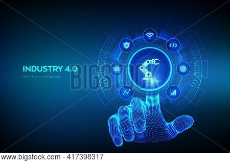 Smart Industry 4.0 Concept. Factory Automation. Autonomous Industrial Technology. Industrial Revolut